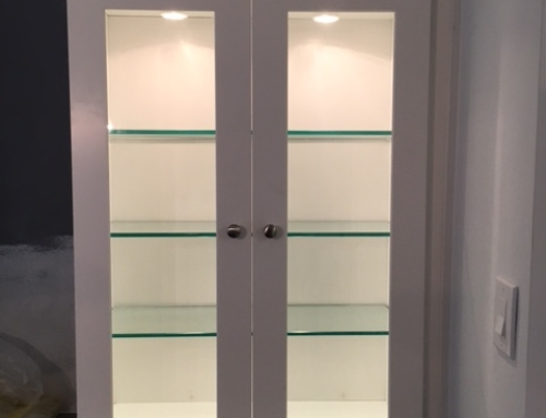 Custom Display Cabinet Installed